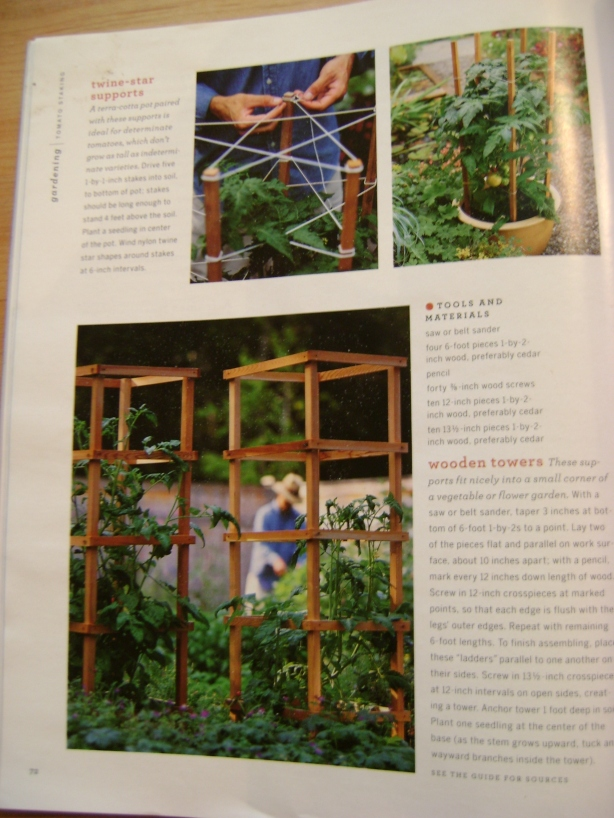 how to build wood tomato cages